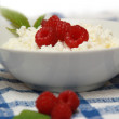 Royalty-Free Stock Photo: Cottage cheese and raspberry