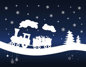 Christmas Train — Stock Vector