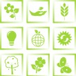 Ecology icons set — Stock Vector #3546609