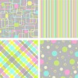 Royalty-Free Stock Vector Image: Set retro pattern