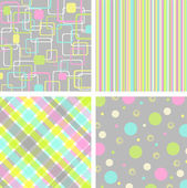 Set retro pattern — Stock Vector