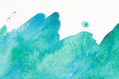 Watercolor sea wave — Stock Photo