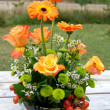 Beautiful bouquet in orange tones — Stock Photo #3602814