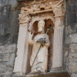 Sculpture of saint Vlaho in Dubrovnik — Stock Photo