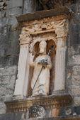 Escultura de saint vlaho em dubrovnik — Fotografia Stock