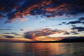 Wieczorem zachód słońca — Zdjęcie stockowe
