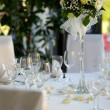 Stock Photo: Table set for festive party