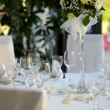 Table set for a festive party — Stock Photo