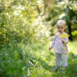 Little baby in a summer forest — Stock Photo #3120032