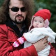 Young father and his baby — Stockfoto