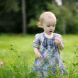Little baby in a clover field — Stock Photo #3120226