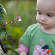 Little baby in the yard — Stock Photo