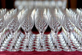 Lots of wine glasses — Stock Photo