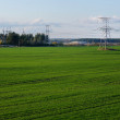 Countryside lanscape with power lines — Foto de stock #3140112