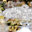 Stock Photo: Table set for festive party or dinner