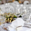 Table set for a festive party or dinne — Stock Photo