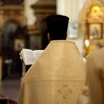Orthodox priest during wedding ceremony — Stock Photo #3140208