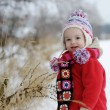 Little winter baby girl — Stockfoto