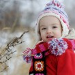 Little winter baby girl — Stock fotografie
