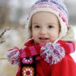 Stock Photo: Little winter baby girl