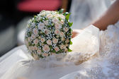 Wedding bunch of pink roses — Stock Photo