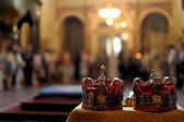 Orthodox wedding accessories — Stock Photo