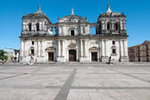 Historical cathedral in Leon — Stock Photo