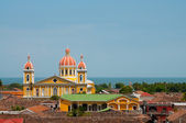Yellow church in Granada — Stock Photo