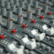 Audio mixing console — Foto Stock