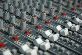 Audio mixing console — Stock Photo