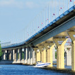 Bridge on river Volga, Russia — Stock Photo #3496685