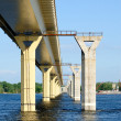 Bridge on river Volga, Russia — Stock Photo #3697641