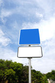 Blank road sign — Stock Photo