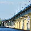 Bridge on river Volga, Russia — Stock Photo #3773815