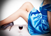 Glass of red wine. — Stock Photo