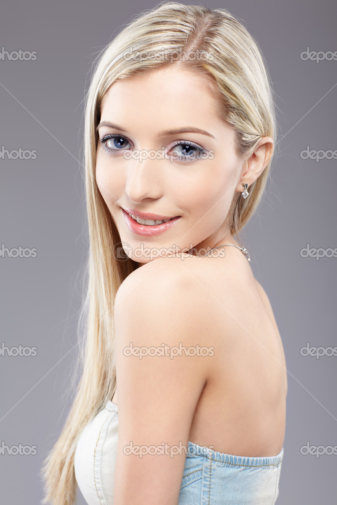 Portrait of beautiful slavonic blonde girl posing  Stock Photo #2775641