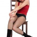 Model posing on chear — Stock Photo #2867044