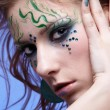 Girl with bodyart — Stock Photo