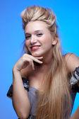 Happy blonde girl — Stock Photo