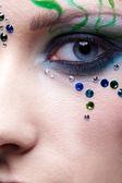 Girl's eye zone bodyart — Stock Photo