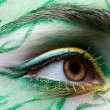 Stock Photo: Eyezone bodyart