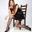 Girl on the chair — Stock Photo #2975464