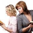 Girls with books — Stock Photo