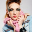 Glam punk girl — Stock Photo