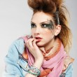 Glam punk girl - Stock Photo