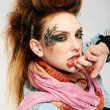 Glam punk girl - Foto Stock