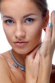 Modell i halsband — Stockfoto