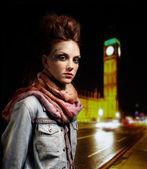 Glam punk girl — Stock Photo