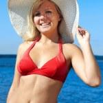 Blonde in red bikini — Stock Photo #3469344