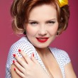 Pin-up girl - Stock Photo